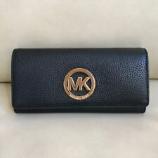 NWT Michael Kors Fulton Flap Continental Leather PVC Wallet Various Color