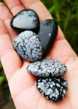 SNOWFLAKE OBSIDIAN POLISHED SMOOTH STONE. 1 PIECE. HEALING CRYSTAL