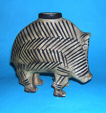 Art Pottery (Marked On Base) - Handsome Model Of A Warthog - Hand Painted. RARE