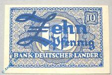 Banknote über 10 Pfennig , Kopfgeld Bank deutscher Länder , Ros. 251 b , kfr/unc
