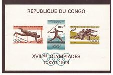 Congo MNH 1964 Olympic Games Japan sheet mint stamps