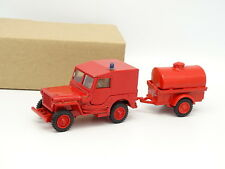Base Solido - MMT ? SB 1/43 - Jeep Willys Pompiers + Tonne
