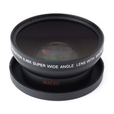 72mm 0.45x Wide Angle + Macro Lens For Canon Nikon Olympus DSLR Camera 0.45x72