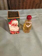 Vintage Avon Jolly Santa Here's My Heart Perfume 1 Oz Full in Box ~