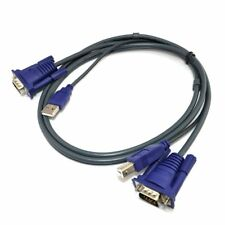 USB 2.0 PC Monitor 15 Pin Standard VGA SVGA  Adapter Cable For KVM Switch PC New