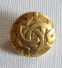 Sweet Antique Victorian Gold Filled Round Embossed Pin