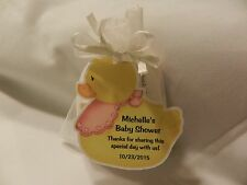 UNIQUE PERSONALIZED RUBBER DUCK THEME BABY SHOWER PARTY FAVOR GIFT TAGS