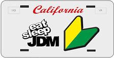 Custom California License Plate Novelty Eat Sleep JDM Toyota Honda Hella  illest