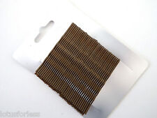 Card of 36 Brown Hair Slides Kirby Grips Hair pins 6.5 cms great for buns