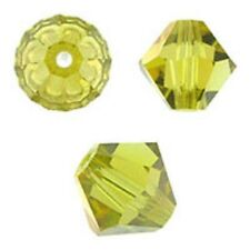 Swarovski Crystal Bicone. Lime AB Color. 4mm. Approx. 144 PCS. 5328