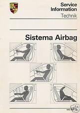 MANUALE  SISTEMA AIRBAG  INFORMAZIONI TECNICHE PORSCHE  911  924  928   1987-91