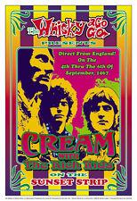 Classic Rock Eric Clapton w/ Cream at Whisky A Go Go Concert Poster Circa 1967