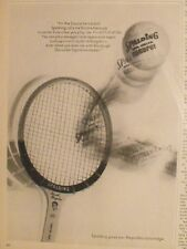 1966 Pancho Gonzales Spalding Tennis Autograph Picture Type Racket Oddball Ad