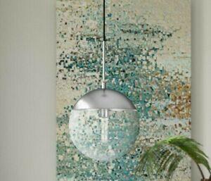 Living District Pendant Light clear glass chrome adjustable ceiling chandelier