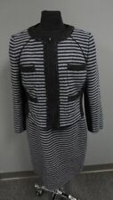 J. CREW NWT Blue Black Striped Wool Blend Lined Two Piece Dress Size 14 FF6575