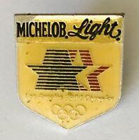 Michelob Light Beer US Olympic Team Sponsor 1984 Pin Badge Rare Vintage (H4)