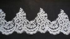 Ivory Eyelash Floral lace trim Bridal Wedding veil/ hemming lace trim Per Yard