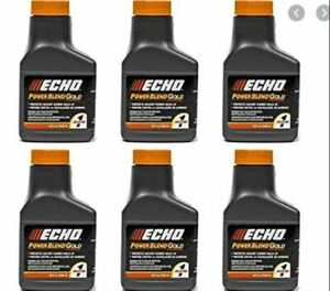 6450001G (6) Echo 1 Gallon Power Blend Xtended Life Oil Gas Mix 2 Stroke Cycle