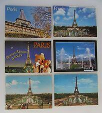 6 x PARIS Turm Tour Eiffel Eiffelturm Frankreich Cartes Postales CPA Postkarten