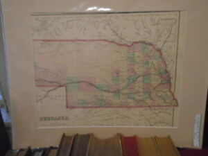 Original 1877 Nebraska Map from Gray's Atlas