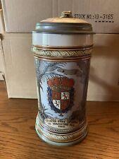 Mettlach #2373, St. Augustine, Florida  Stein, 1/2 Liter, Dated 1899