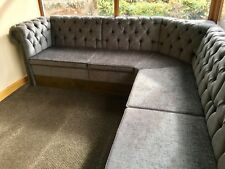 More details for chesterfield free standing bench seating banquet/bench/booth/home/bar/restaurant