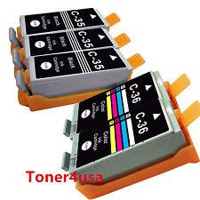 5 Pack ink cartridges PGI-35 CLI-36 for Canon Pixma IP100 IP110 MINI260 MINI320