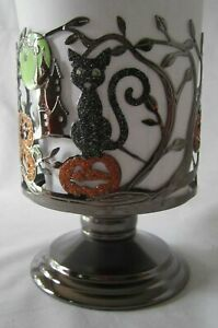 Bath & Body Works Candle Sleeve 14.5 oz Candle HALLOWEEN BLACK CAT  Pedestal