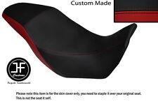 BLACK AND DARK RED VINYL CUSTOM FITS HONDA CB 500 X 13-14 DUAL SEAT COVER ONLY