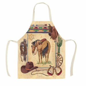 HORSE & WESTERN GIFTS ACCESSORIES KITCHEN WESTERN HORSE PRINT APRON ADULT