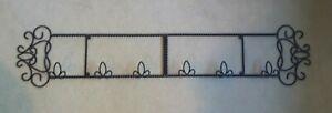 Heavy Duty Twisted Iron Horizontal Plate Display Rack ~ FOLDS ~ Holds 3 Plates
