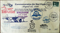 Commemorative Air Mail Flight August 1st 1996 Alberta Aviation Heritage Week FDC