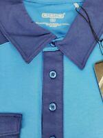 Ogio Mens Short Sleeve Blue Golf Clutch Polo Shirt Size Large NWT