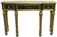 Large Golden Opulent Table With Drawers Home 133 L X 33 W X 90h- 4018