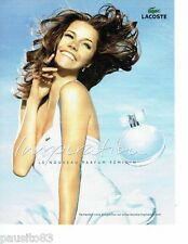 PUBLICITE ADVERTISING 116  2006   le parfum femme Inspiration de Lacoste