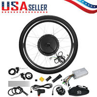 """48V 1000W 26"""" Front Wheel Electric Bicycle Motor Conversion Kit Cycle eBike Hub"""
