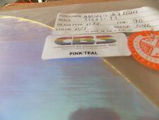 "Dichroic Glass: CBS 90COE Pink/Teal on Flat Thin Clear 3"" Sq"