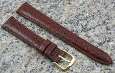 15mm Ladies BROWN Genuine Leather Watch Band STYLECRAFT Strap Made in Canada 194