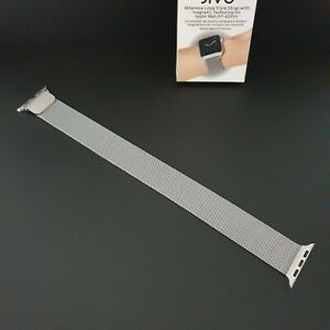 Genuine Jivo SILVER Milanese Style Loop Watch Strap for Apple Watch 42mm / 44mm