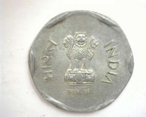 INDIA 1986 20 PAVE MIS STAMPED PLANCHET MINT ERROR CIRCULATED