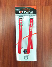 Zefal Christophe Leather Toe Clip Bicycle Pedal Straps Classic Retro Look, Red