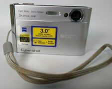 "Sony Cyber-shot DSC-T20 Digital Camera 8.1MP 2.5"" 3x OZ Silver Good Condition"