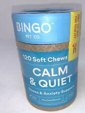 Calming Dog Treats 120 Soft Chews Peanut Butter Flavor L-Theanine Chamomile