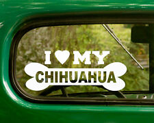 2 I LOVE MY CHIHUAHUA STICKERs Dog Breed Decal For Car Truck Laptop Window Rv