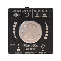 Audio HIFI Bluetooth 5.0 TPA3116 Stereo Digital power Amplifier Board 50WX2 AMP