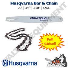 "Genuine Husqvarna Bar & Chain 20"" for 455 & 460 Rancher | 585950972 & 501842672"