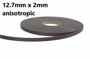 Self Adhesive Magnetic Tape Strip Anisotropic High energy 12mm x 2mm x 1metre