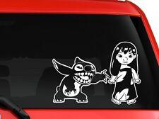 "Lilo And Stitch children cartoon car truck SUV decal sticker 8"" White"