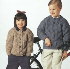 """Chunky Cardigan and Sweater Knitting Pattern Girls and Boys 22-30""""      160"""