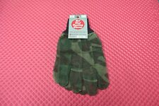 Hot Shot Hunting Gloves 100% Nylon Blue-Green Camo Jacob Ash Co. Style 97-1739T